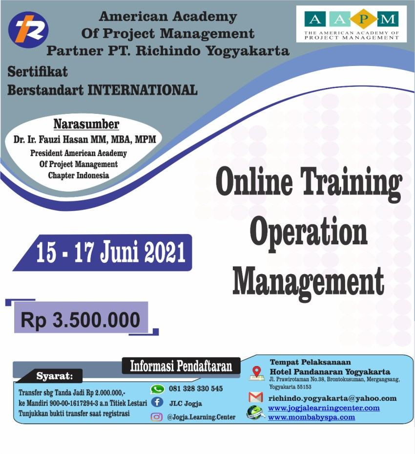 ONLINE TRAINING OPERATION MANAGEMENT
