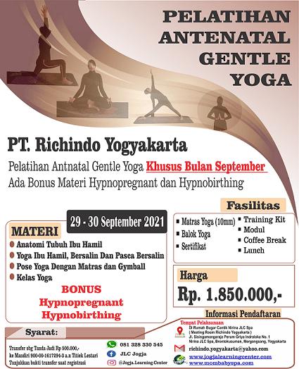 Pelatihan Antenal Gentle Yoga