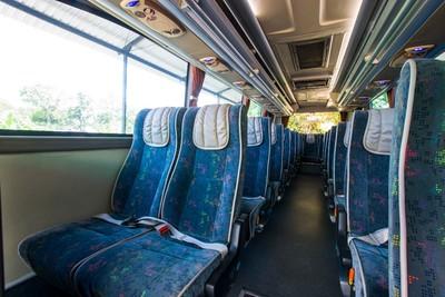 Salah satu interior bus dari Jogja Rafira