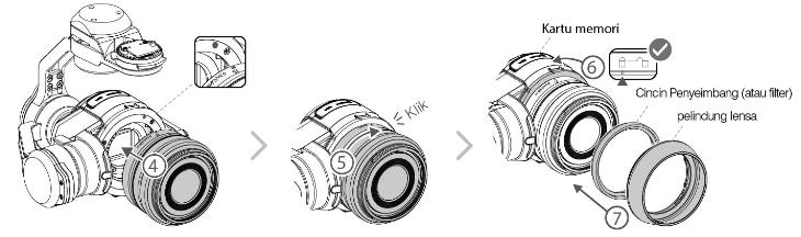 Memasang Gimbal dan Kamera