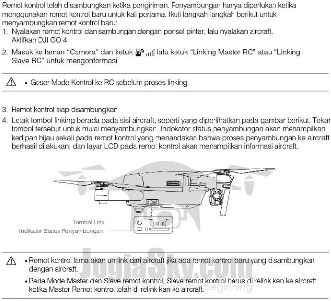 Linking / Menyambungkan Remot Kontrol