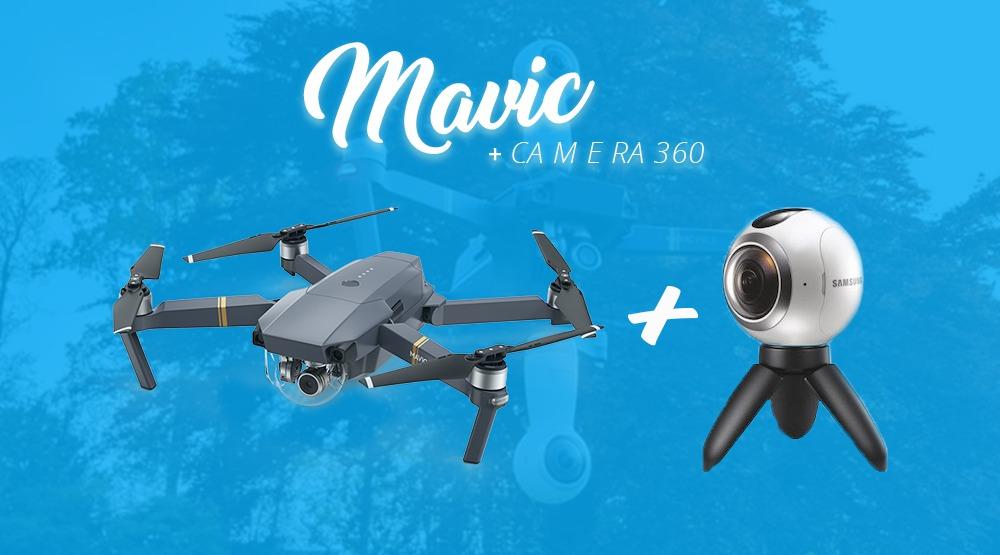 DJI Mavic Terbang dengan Kamera 360