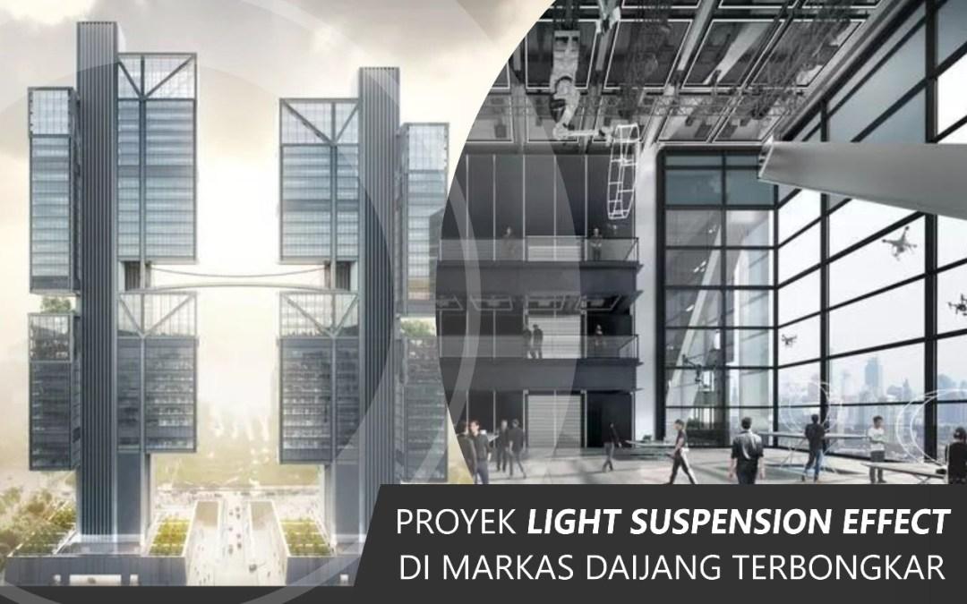 Proyek Light Suspension Effect di Markas Daijang