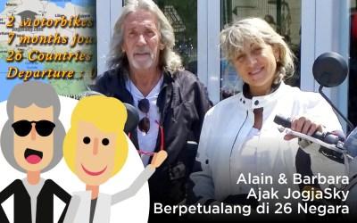 Alain & Barbara Ajak JogjaSky Berpetualang di 26 Negara