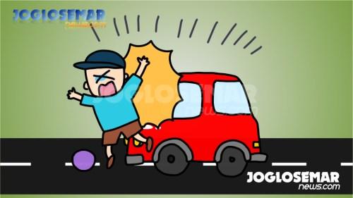 ilustrasijs kecelakaan tertabrak mobil