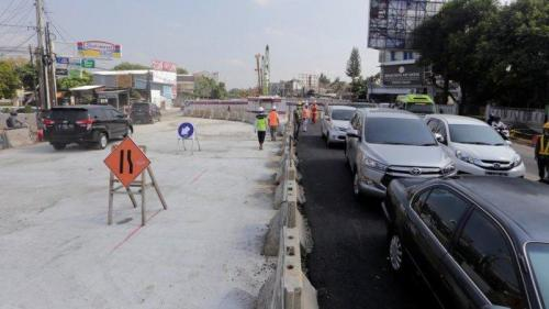 pagar proyek underpass kentungan dibuka