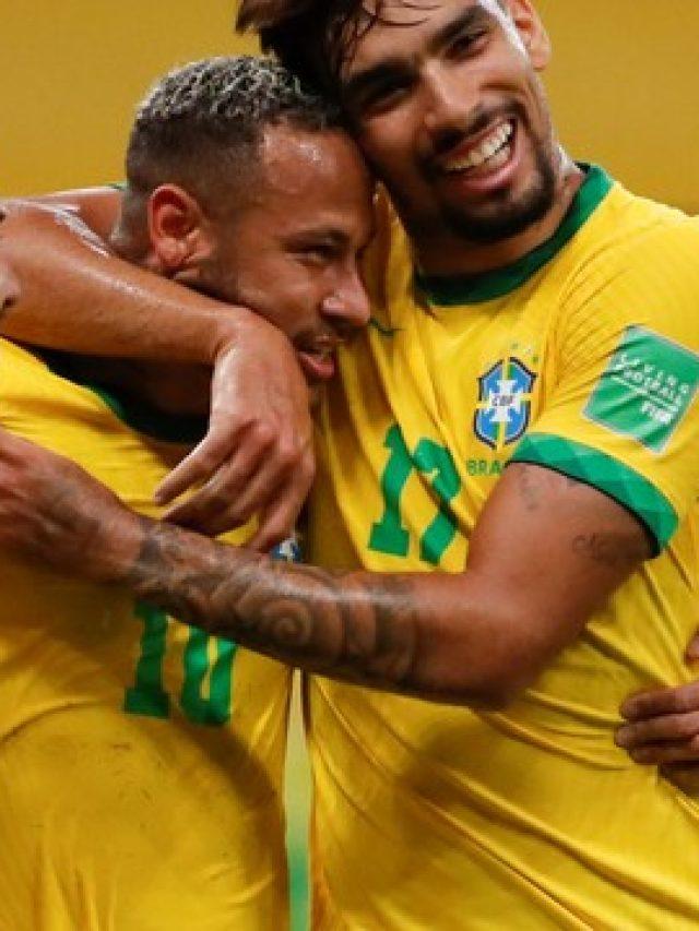 Brasil vence Peru com gols de Everton Ribeiro e Neymar