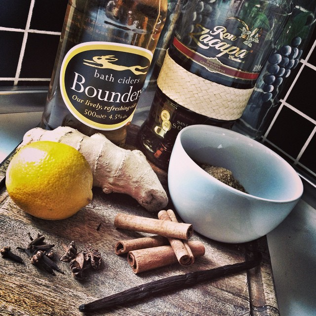 Zacapa-spiked mulled apple cider