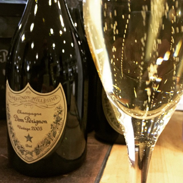 Dom Perignon 2005 - a freshly poured glass for review
