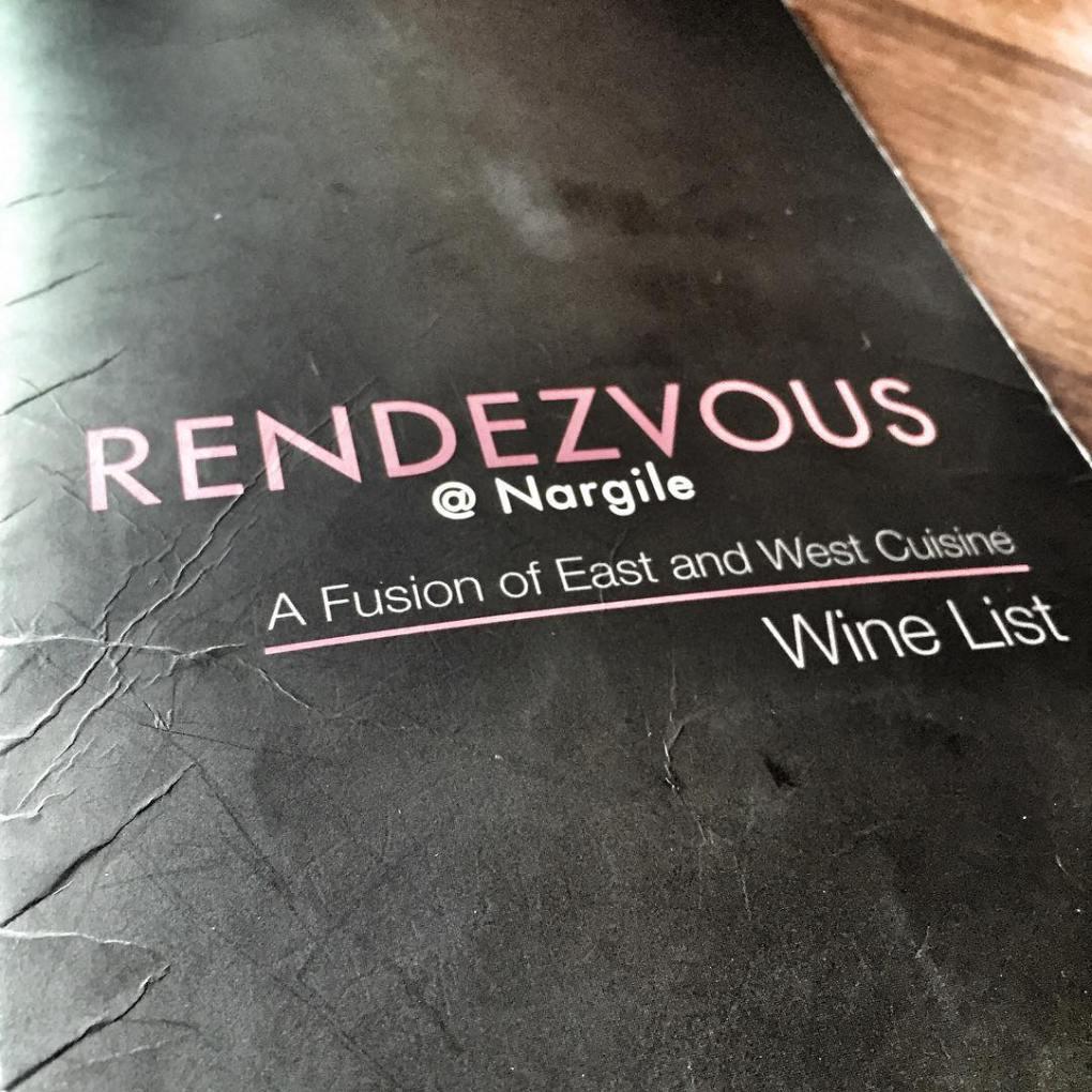 Rendezvous @ Nargile Menu