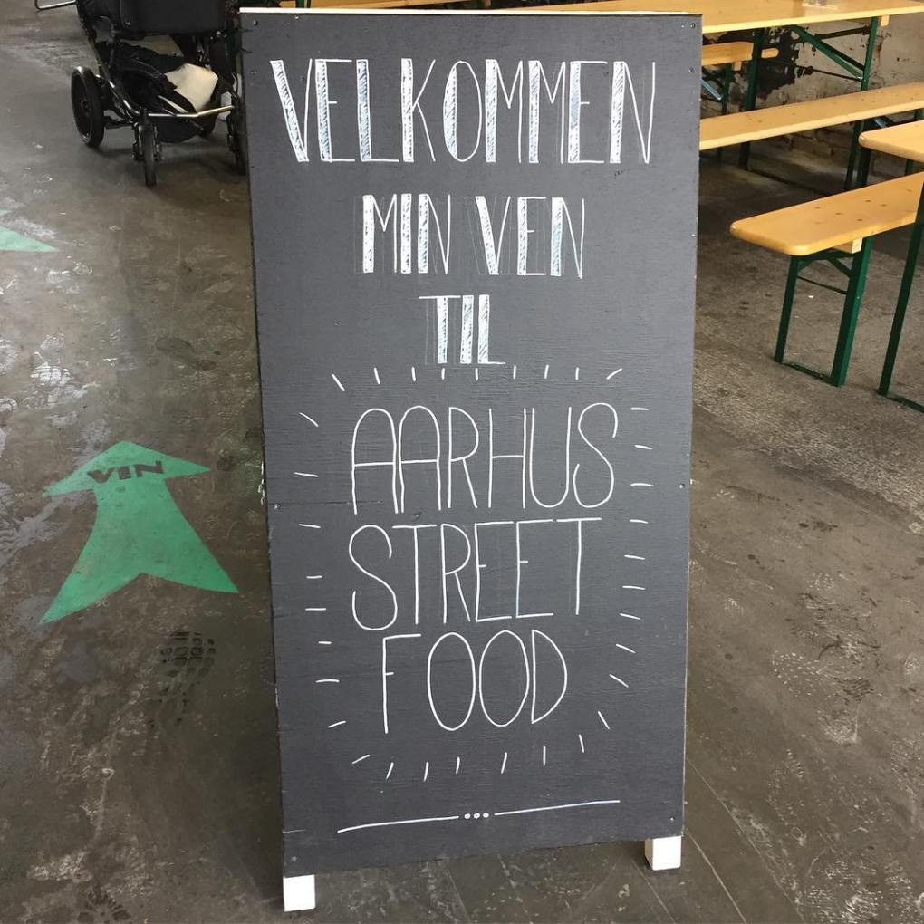 Welcome to Aarhus Street Food sign