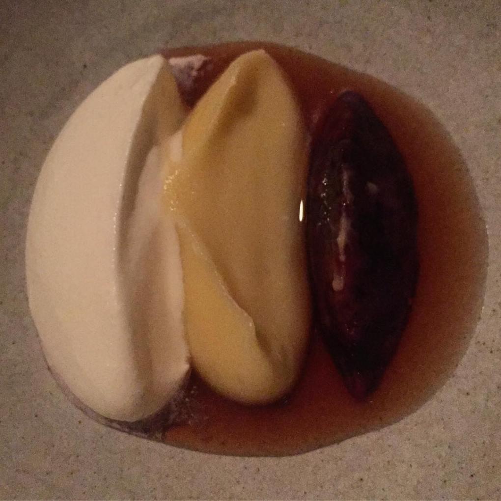 Plum dessert at Noma