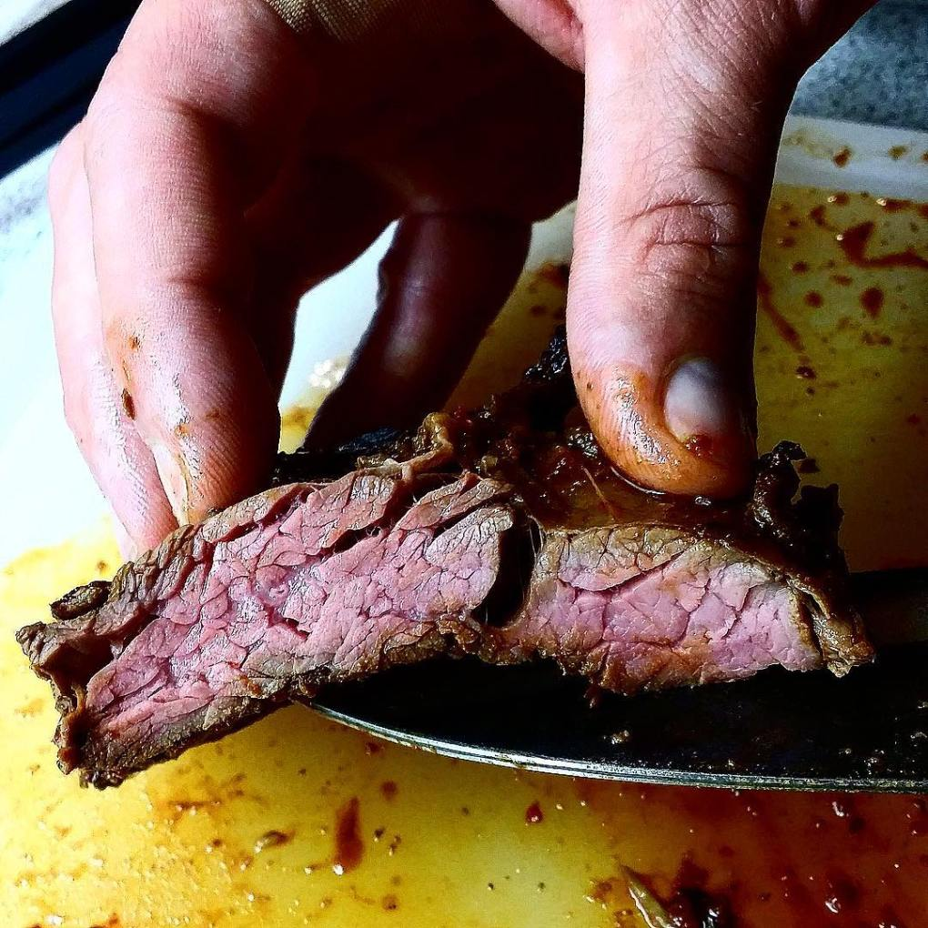 cooked carne asada beef