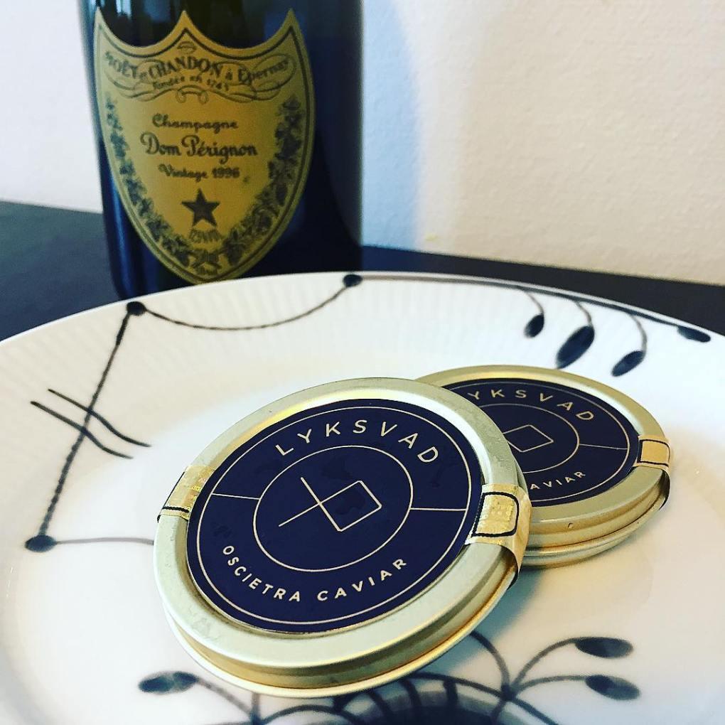 caviar and 1996 dom perignon