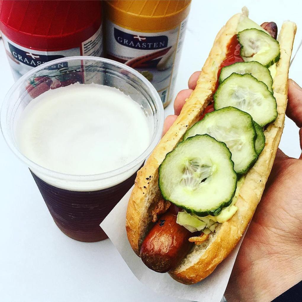 traditional danish hotdog