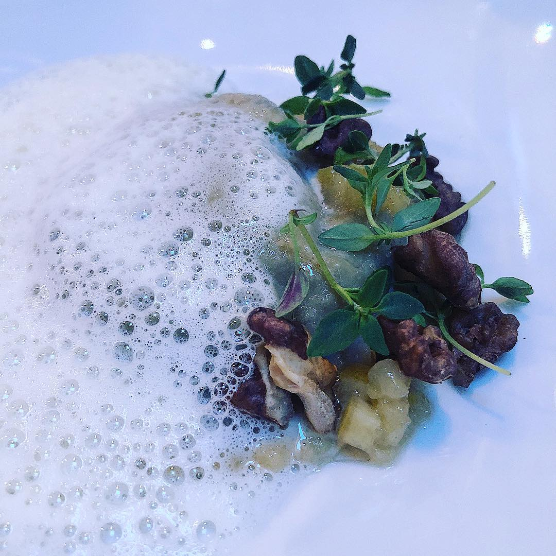 Ravioli med æggeblomme på Restaurant Niels
