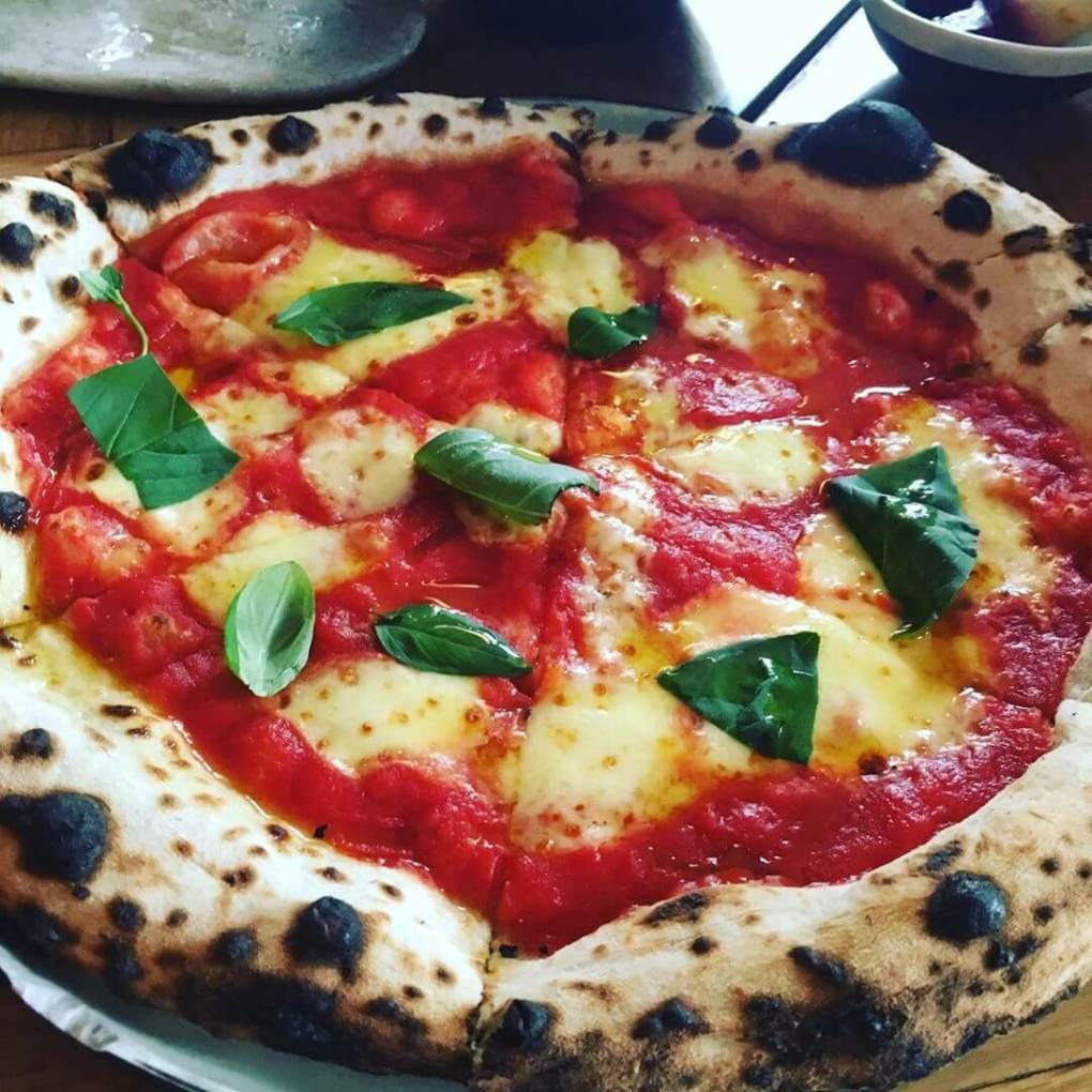 Pizza Margherita at Bæst Copenhagen