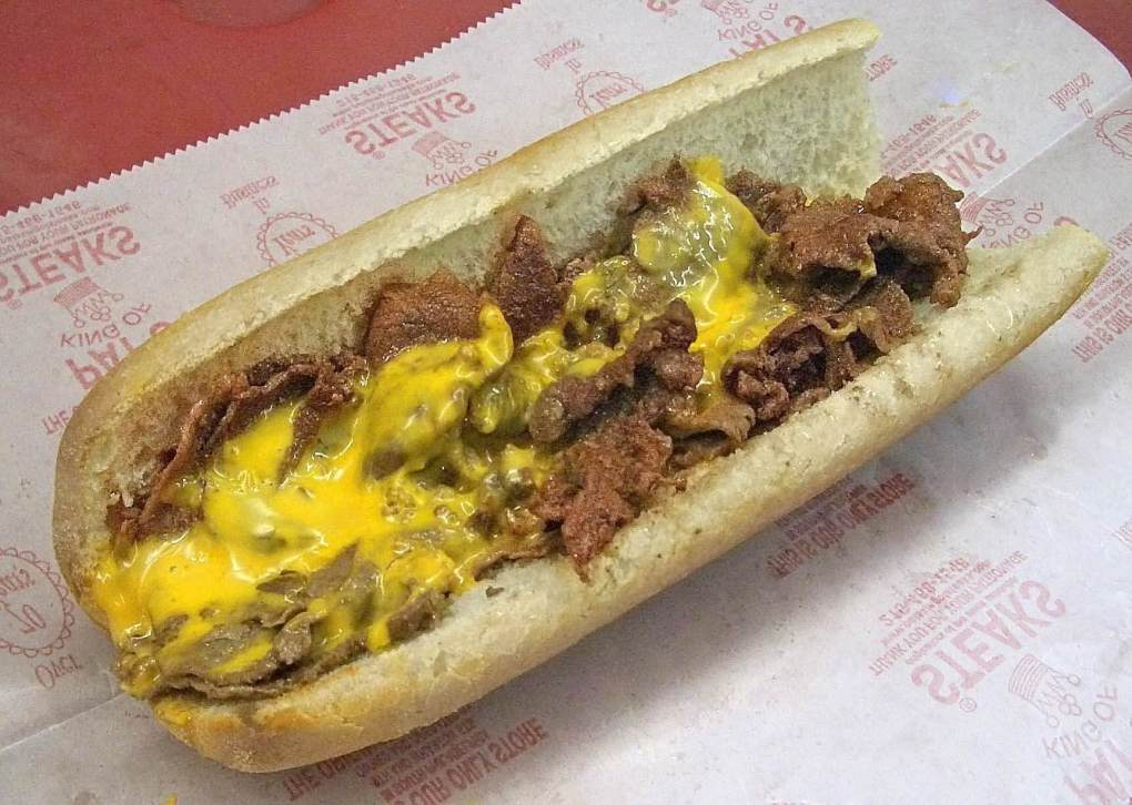 Wiz on a Cheesesteak Sandwich