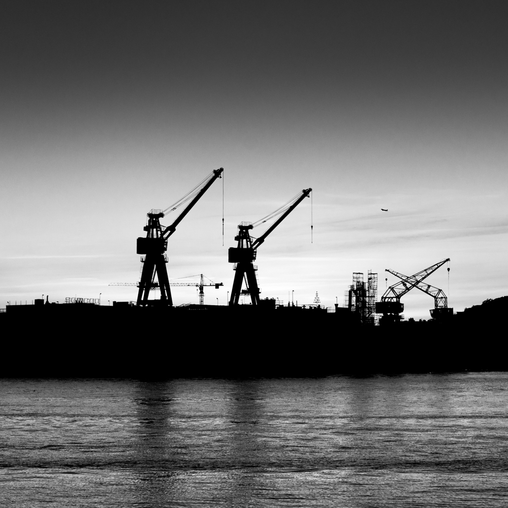 Cranes in the dock