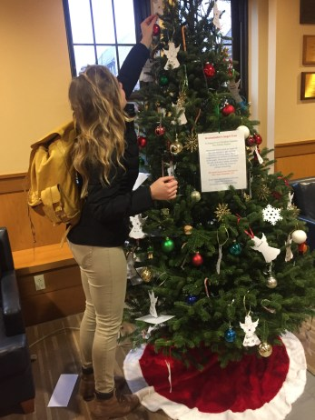dining hall christmas tree