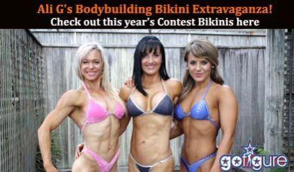 modeling at the 2013 Bodybuilding bikini Extravaganza