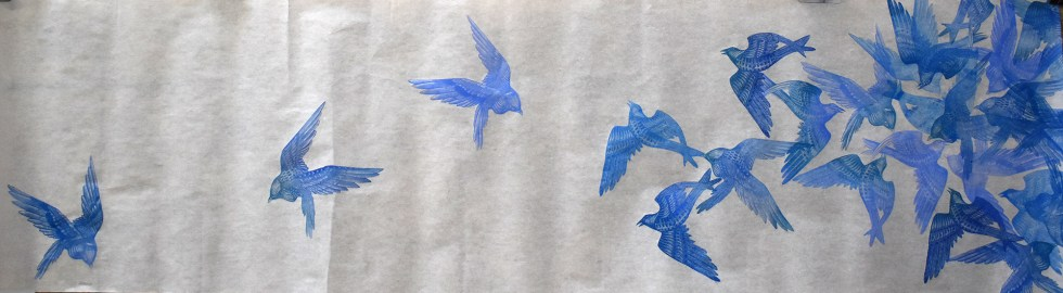Flock I Print Scroll by Johanna Mueller
