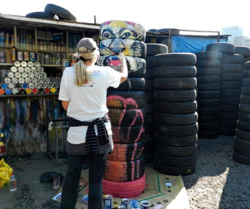 Tires-painting