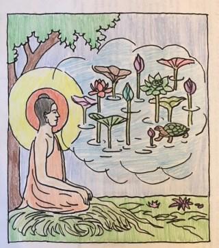 Buddha coloring book