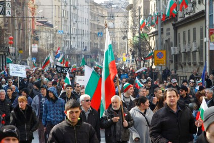 Thousands marching through Central Sofia