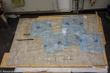 Reliefwand, Tonplatten fertig, 27.11.19