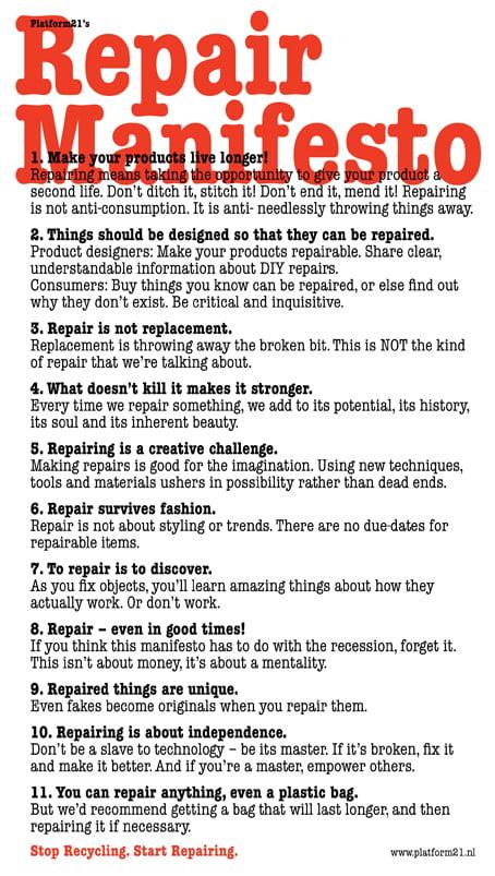 The Repair Manifesto