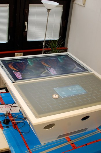TwinTable Under Construction (TFT and Rear Projection Switched on)