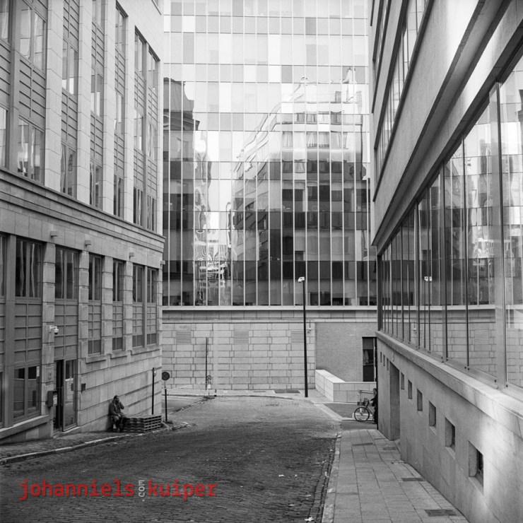 Rolleiflex Brussel spiegelgebouw