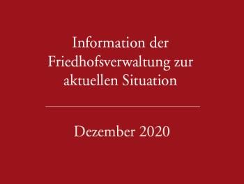 Aktualisierung Dezember 2020 – Informationen der Verwaltung zur aktuellen Situation