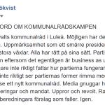 Några många ord om kommunalrådskampen i Luleå.