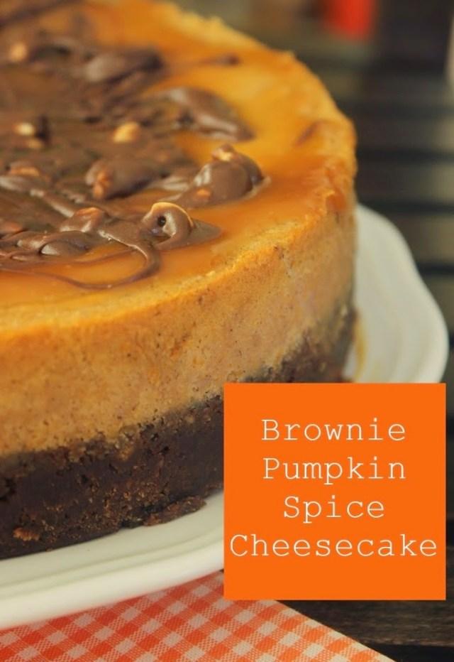 Brownie Pumpkin Spice Cheesecake|Fall Recipe