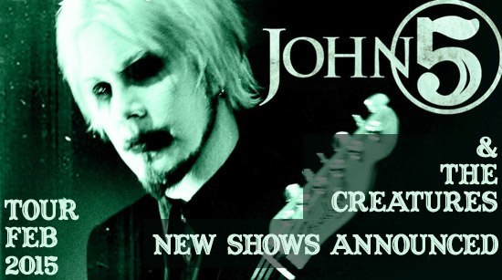John 5 and The Creatures new shows