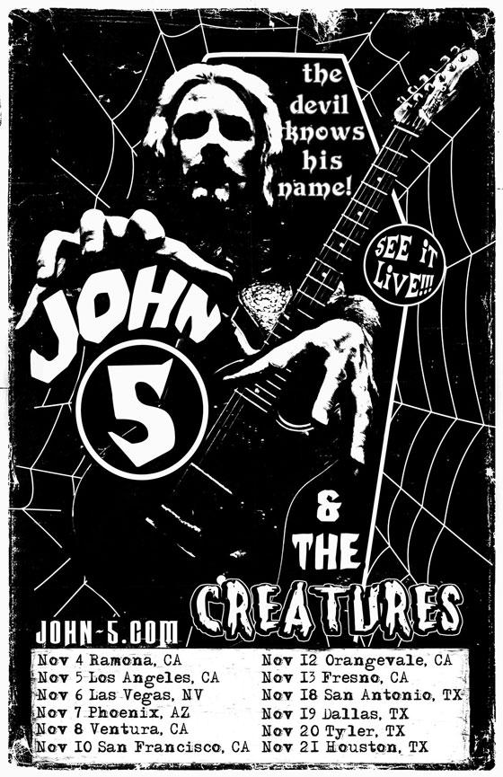 John 5 creatures fall tour poster