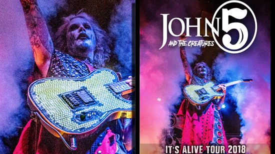 John 5 and The Creatures It's Alive tour