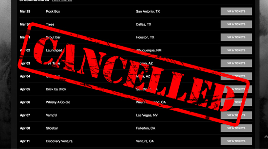 tour date cancellation graphic