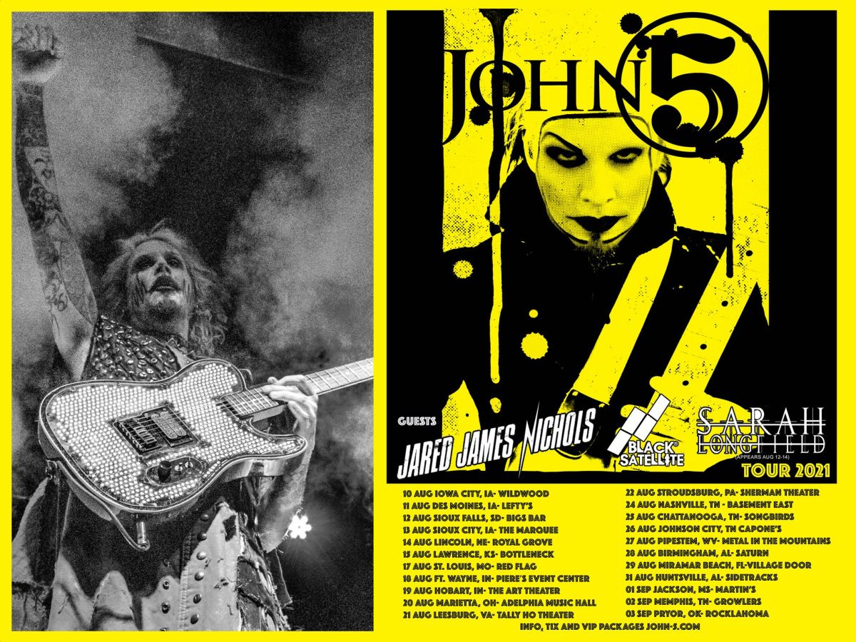 John 5 and The Creatures tour 2021 story tease all dates