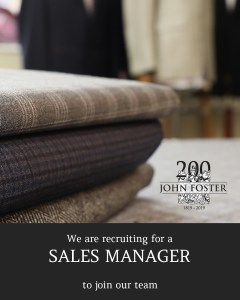 John Foster Sales Manager Advert