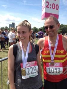 Sarah and I post race photo