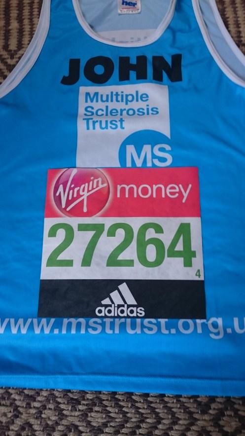vest & running number