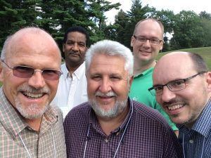 pastors at the NE annual training for group leaders