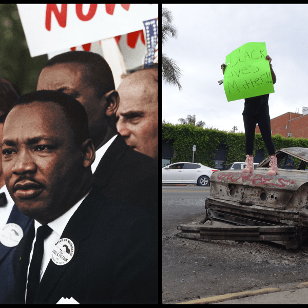 Left is MLK, Right is a BLM protester, both Nobel nominees