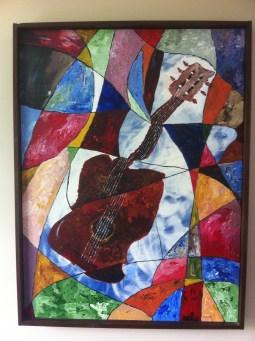 Guitar and Broken Window