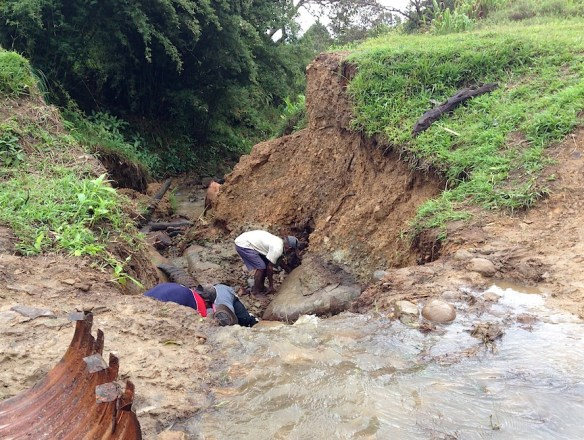 And the road washes out again. And you fix it again. (Mte village, Nov. 2015)