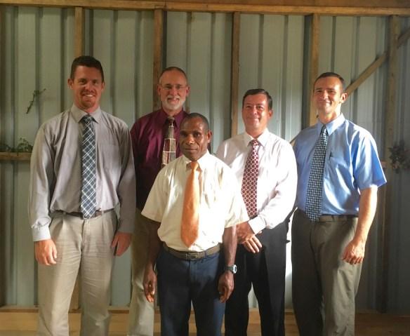 Matt, John, John Gray, & Jason Ottosen with Pastor Jack Naudi