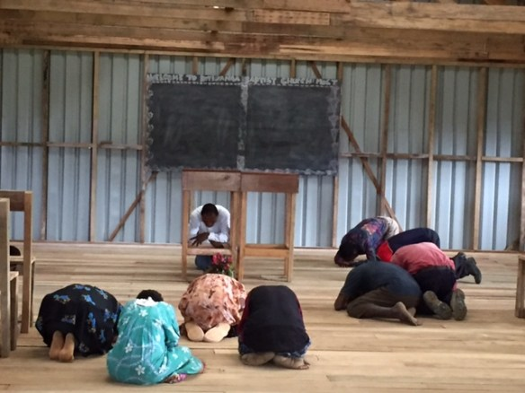 Response during prayer time after a morning worship service at KBC. (Oct. 2015)
